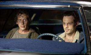 Gutter-level thieves Frankie and Russell (Scoot McNairy and Ben Mendelsohn) in Killing Them Softly
