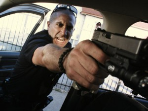 Brian Taylor (Jake Gyllenhaal) gets up-close-and-personal in End of Watch