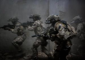The Seal Team Six raid Bin Laden's compound in Zero Dark Thirty