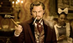The sadistic Calvin Candie (Leonardo DiCaprio) in Django Unchained