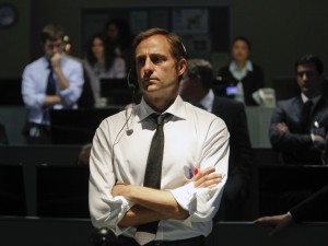 CIA senior officer George (Mark Strong) looks on nervously in Zero Dark Thirty