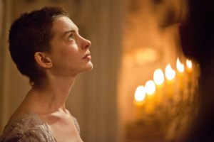 The angelic Fantine (Anne Hathaway) in Les Misérables