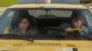 Darius (Aubrey Plaza) and Kenneth (Mark Duplass) in Safety Not Guaranteed