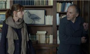 Eva (Isabelle Hupert) and her father Georges (Jean-Louis Trintignant) in Amour