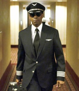 Whip Whitaker (Denzel Washington) prepares for take off in Flight
