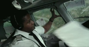 Whip Whitaker (Denzel Washington) performs a miraculous manoeuvre in Flight