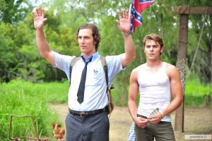 Reporter Ward Jansen (Matthew McConaughey) and his brother Jack (Zac Efron) in The Paperboy