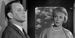 Captain Bennett Marco (Frank Sinatra) has a strange exchange with Rosie (Janet Leigh) in The Manchurian Candidate