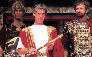 Pontius Pilate (Michael Palin) and right-hand-man Biggus Dickus (Graham Chapman) in Life of Brian
