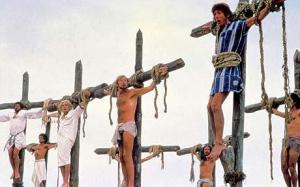 Brain and chums try to look on the bright side of life in Life of Brian