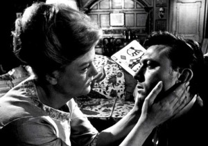 Eleanor Iselin (Angela Lansbury) and Raymond Shaw (Laurence Harvey) - one of the most uncomfortable mother/son relationships in history -  in The Manchurian Candidate