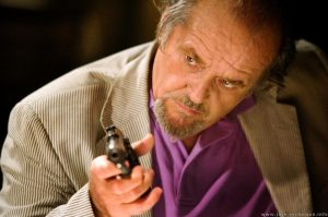 Psychopathic mob kingpin Frank Costello (Jack Nicholson) in The Departed