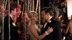 Unhappily married couple Daisy (Carey Mulligan) and Tom Buchanan (Joel Edgerton) in The Great Gatsby