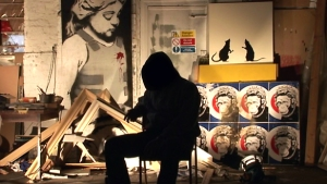 The enigmatic Banksy in Exit Through The Gift Shop