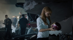 Pepper Potts (Gwyneth Paltrow) picks up the pieces in Iron Man 3