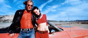 Mickey and Mallory Knox (Woody Harrelson and Juliette Lewis) on their media-fuelled rampage in Natural Born Killers
