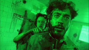 The shizer hits the fan fortabloid TV journalist Wayne Gale (Robert Downey Jr) in Natural Born Killers