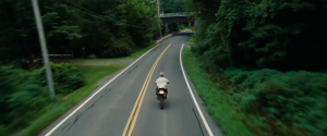 A moment nicely echoed later in The Place Beyond The Pines