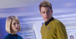 New crew member Carol Marcus (Alice Eve) hasn't yet fallen for Kirk's (Chris Pine) charms in Star Trek Into Darkness