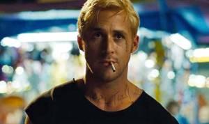 Intense motorcycle stuntman Luke Glanton (Ryan Gosling) in The Place Beyond The Pines
