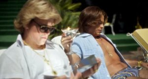 Scott (Matt Damon) and half-baked plastic surgeon Dr Jack Startz (Rob Lowe) in Behind the Candelabra