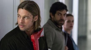 Gerry (Brad Pitt) and co in World War Z