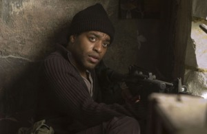 Senior rebel Luke (Chiwetel Ejiofor) in Children Of Men