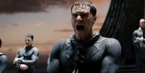A typically restrained Michael Shannan as General Zod in Man Of Steel