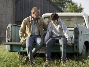 Jonathan Kent (Kevin Costner) consoles a confused Clark in Man Of Steel