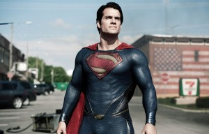 Superman (Henry Cavill) at one with the suit in Man of Steel