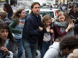 Fleeing the initial zombie outbreak in World War Z