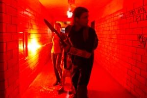 Karin (Mireille Enos) and husband Gerry (Brad Pitt) seek escape in World War Z