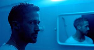 Julian (Ryan Gosling) on hisslow descent in Only God Forgives