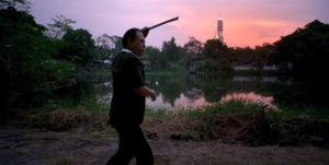 The ghost-like Angel of Vengeance Chang (Vithaya Pansringarm) in Only God Forgives