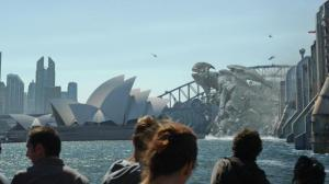 A Kaiju goes to work on Sydney, in Pacific Rim