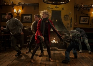 Sam (Rosamund Pike) kicks butt in The World's End