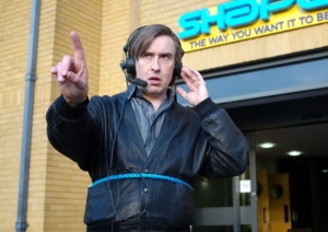 The pathetic, petty and lonely Alan (Steve Coogan) in Alan Partridge: Alpha Papa