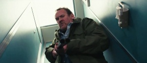 Disgruntled ex-DJ Pat Farrell (Colm Meaney) in Alan Partridge: Alpha Papa