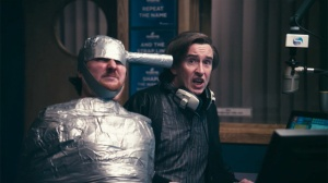 Alan (Steve Coogan) and Sidekick Simon (Tim Key) are forced to stay on air in Alan Partridge: Alpha Papa