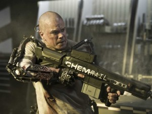 Max De Costa (Matt Damon) and his Big F**king Gun in Elysium