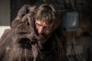 The unhinged mercenary Kruger (Sharlto Copley) in Elysium