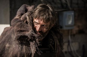 The unhinged mercenary Kruger (Sharlto Copley) in Elysium