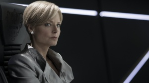 Devious Defense Secretary Jessica Delacourt in Elysium