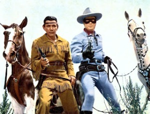 The original Lone Ranger (Clayton Moore) and Tonto (Jay Silverheels)