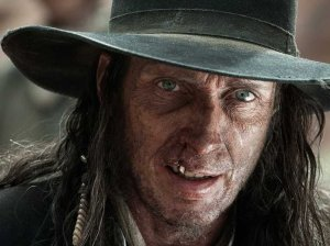 The ruthless outlaw Butch Cavendish (William Fichtner) in The Lone Ranger