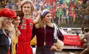 A typically laid-back James Hunt (Chris Hemsworth) in Rush