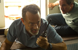 Pirates make their move on the American container vessel commanded by Captain Phillips (Tom Hanks)