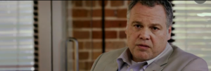 Vincent D'Onofrio channeling Marlon Brando (physically anyway) as Lester Clark in Escape Plan