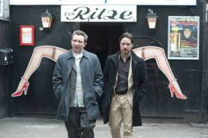 Brits abroad Bladesey (Eddie Marsan) and Bruce Robertson (James McAvoy) in Filth