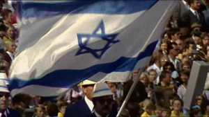 The symbolism of an Israeli flag paraded on German soil at the 1972 Munich Olympics in One Day In September